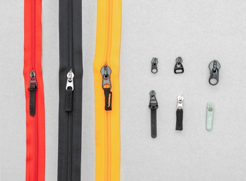 a variety shape of zippers and hooks