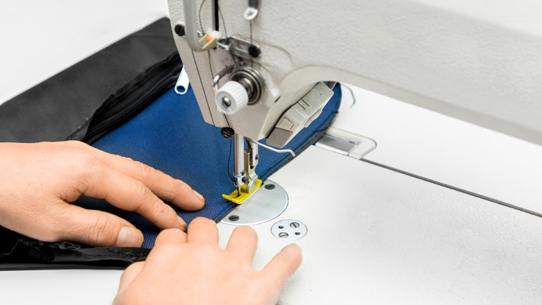 people saws pocket by sewing machine